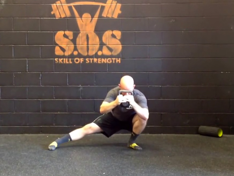 Lateral Squat with Counterbalance